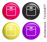 scale multi color glossy badge...