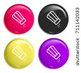 salt multi color glossy badge...