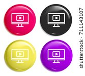 video player multi color glossy ...