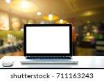 conceptual workspace empty... | Shutterstock . vector #711163243