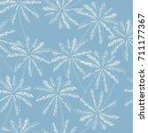 white outline palm trees on the ... | Shutterstock .eps vector #711177367