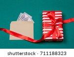 Concept  A Gift Or Money....