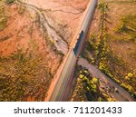 aerial photograph of australian ... | Shutterstock . vector #711201433