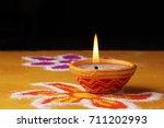diwali  deepavali or deepawali  ... | Shutterstock . vector #711202993