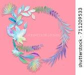 watercolor leaves | Shutterstock . vector #711209533