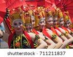 banyuwangi indonesia  classical ...   Shutterstock . vector #711211837