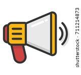 megaphone vector icon   Shutterstock .eps vector #711214873