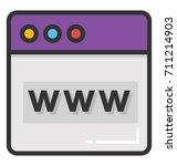 www vector icon | Shutterstock .eps vector #711214903
