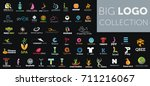 big logo collection. creative... | Shutterstock .eps vector #711216067