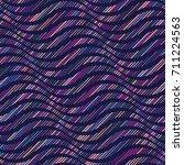 vector wavy pattern. geometric... | Shutterstock .eps vector #711224563