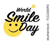 world smile day. | Shutterstock .eps vector #711226093