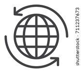 worldwide shipping line icon ...