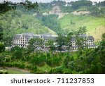 luxury mountain resort with... | Shutterstock . vector #711237853