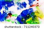 bright colored daub on a white... | Shutterstock . vector #711240373