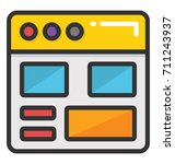 website layout vector icon | Shutterstock .eps vector #711243937