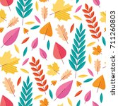 vector autumn seamless pattern... | Shutterstock .eps vector #711260803