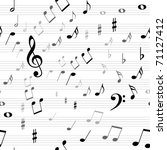 music notes background | Shutterstock . vector #71127412