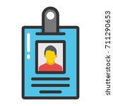 id card vector icon | Shutterstock .eps vector #711290653
