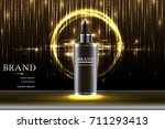 black cosmetic container with... | Shutterstock .eps vector #711293413