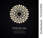 golden flower shape. gradient... | Shutterstock .eps vector #711312493