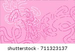 abstract background with... | Shutterstock .eps vector #711323137