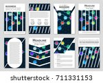 abstract vector layout... | Shutterstock .eps vector #711331153