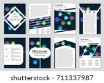 abstract vector layout... | Shutterstock .eps vector #711337987