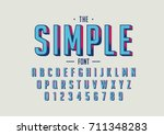 vector of retro bold font and... | Shutterstock .eps vector #711348283