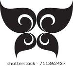 swirl doodle tribal floral... | Shutterstock .eps vector #711362437