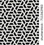 simple seamless geometric grid... | Shutterstock .eps vector #711362983