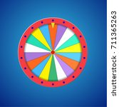 wheel of fortune flat template... | Shutterstock . vector #711365263