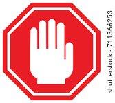 stop road sign | Shutterstock .eps vector #711366253