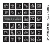 shopping icons set  e commerce  ... | Shutterstock .eps vector #711372883