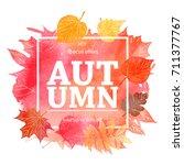 autumn leaf foliage watercolor ....   Shutterstock .eps vector #711377767