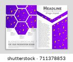 abstract vector layout... | Shutterstock .eps vector #711378853