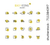 easy icons 36d delivery | Shutterstock .eps vector #711384397