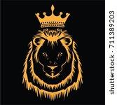 lion head vector | Shutterstock .eps vector #711389203
