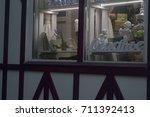 showcase of wedding shop ... | Shutterstock . vector #711392413