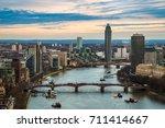 london  england   aerial...   Shutterstock . vector #711414667