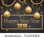 illustration of happy new year... | Shutterstock . vector #711419563