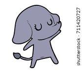 cute cartoon elephant | Shutterstock .eps vector #711420727