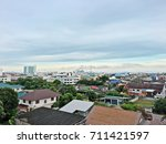 aerial view of downtown... | Shutterstock . vector #711421597