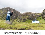 couple at isle of skye ... | Shutterstock . vector #711433093
