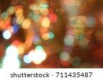 abstract circular bokeh ... | Shutterstock . vector #711435487