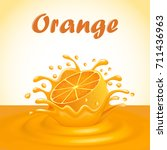 illustration of a splash of... | Shutterstock .eps vector #711436963