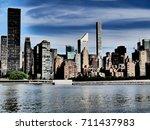 manhattan skyline seen from... | Shutterstock . vector #711437983
