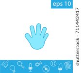 hand icon  outline eps 10...
