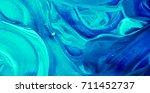 turquoise blue mixed daub | Shutterstock . vector #711452737