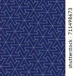 japanese sashiko motif with... | Shutterstock .eps vector #711498673