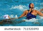 Small photo of Budapest, Hungary - Jul 16, 2017. TOTH Ildiko (HUN) fights with ARIMA Yumi (JPN) in the preliminary round. FINA Waterpolo World Championship was held in Alfred Hajos Swimming Centre in 2017.
